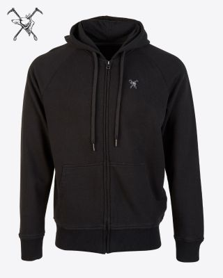 Fox & Crop Mens Black Hoody