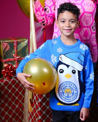 Leicester City Kids Penguin Christmas Jumper