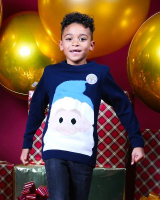 Leicester City Kids Santa Christmas Jumper