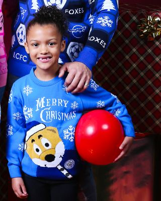 Leicester City Kids Filbert Christmas Jumper