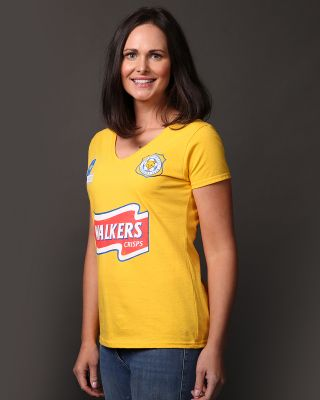 Leicester City Womens Yellow Walkers Tee