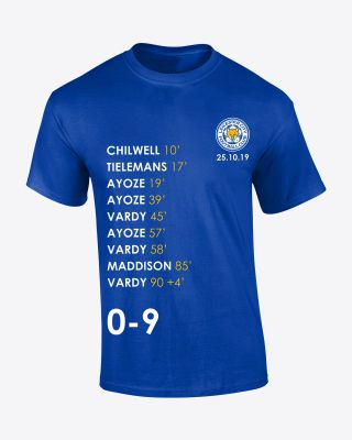 Leicester City Mens 0-9 Record Breaking Tee