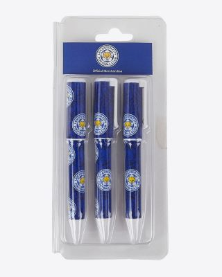 Leicester City 3 Pack of Pens