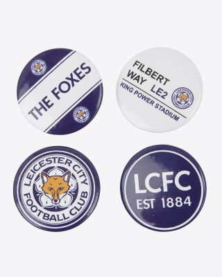 LCFC Pack Of 4 Badges