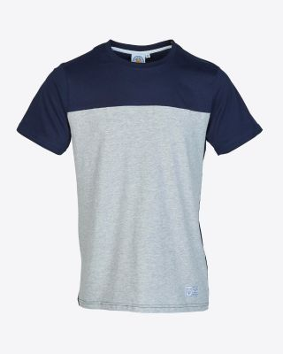 Leicester City Mens Navy/Grey Block Tee