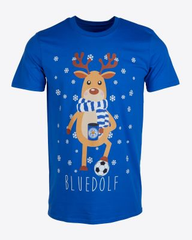 Leicester City Adult Christmas Bluedolph Tee