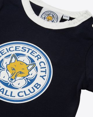 Leicester City Baby Navy L/S Vest