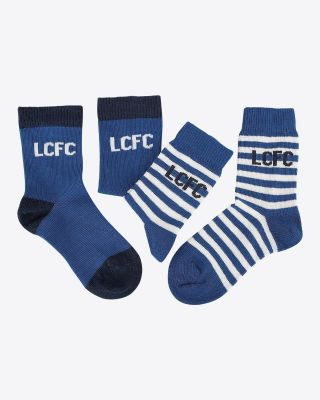 LCFC Twin Pack Baby Socks