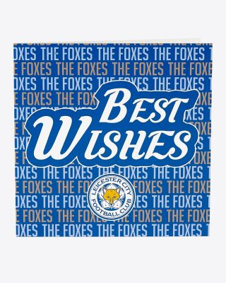 Leicester City Best Wishes Card