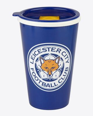 Leicester City Travel Mug Blue/Yellow Lid