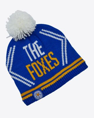 Leicester City Kids Fleece Lined Bobble Hat