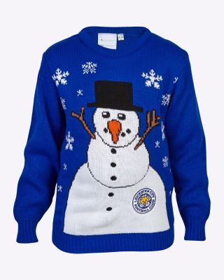Leicester City Kids Snowman Christmas Jumper