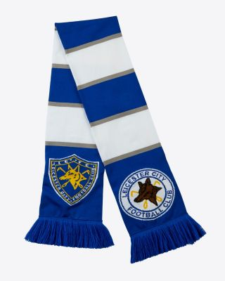 Leicester City Retro Crest Bar Scarf