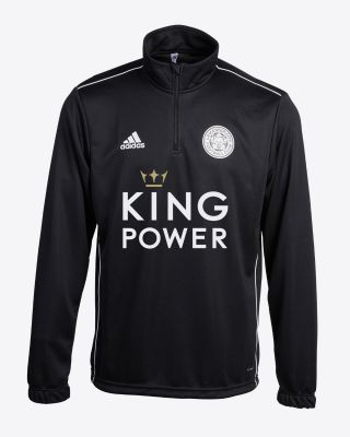 2019/20 adidas Leicester City Junior Black 1/4 Zip Top