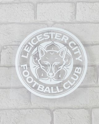 Leicester City Frosted Crest Car Sticker