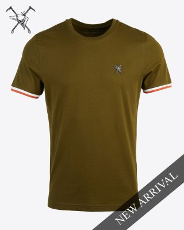 Fox & Crop Mens Olive T-Shirt