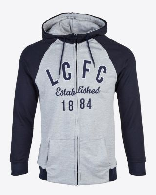 Leicester City Womens Navy/Grey Hoody