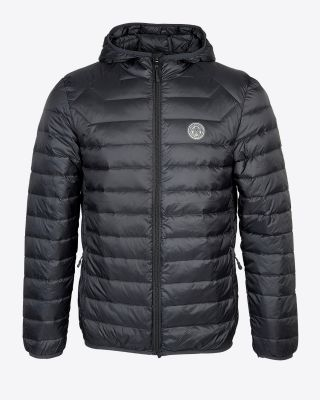 Leicester City Mens Charcoal Hooded Jacket