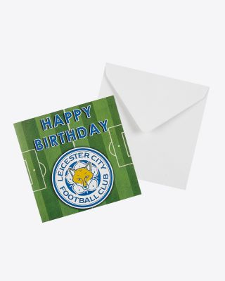 Leicester City Happy Birthday Pitch Card