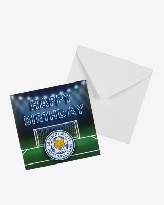 Leicester City Happy Birthday Goal Card