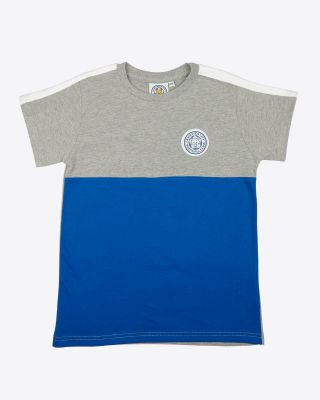 Leicester City Kids Blue Block Tee