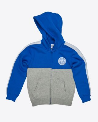 Leicester City Kids Blue Block Zip Hoodie