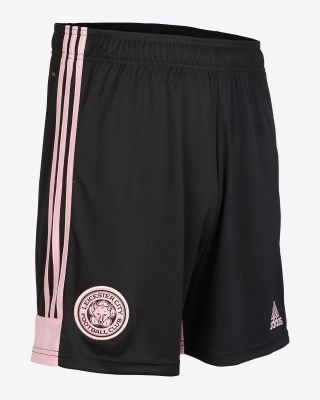 2019/20 adidas Leicester City Junior Black Away Shorts