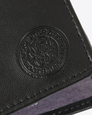 Leicester City Black Retro Image Leather Wallet