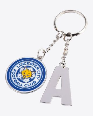 Leicester City Initial Keyring  A-Z