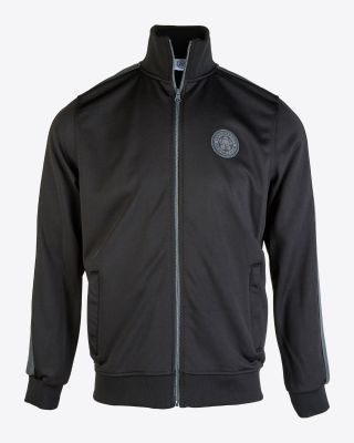 Leicester City Mens Black/Grey Track Jacket