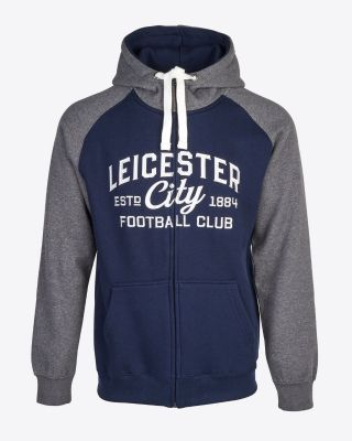 Leicester City Mens Navy/Grey Hoody