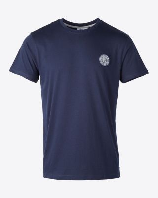 Leicester City Mens Navy Tonal Crest Tee