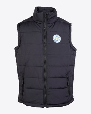 Leicester City Mens Chunky Black Gilet