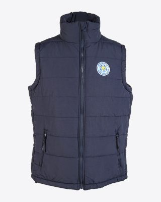 Leicester City Mens Chunky Navy Gilet