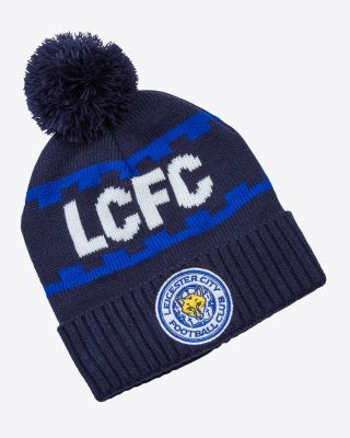 Leicester City Navy Chunky Bobble Hat