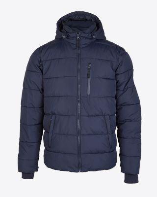 Leicester City Mens Padded Navy Jacket