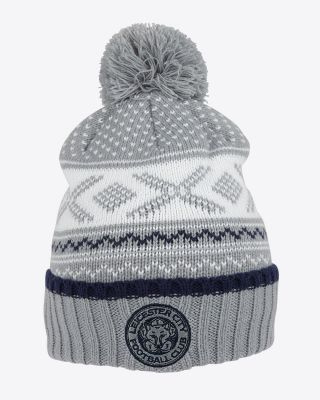 Leicester City Ladies Grey Bobble Hat