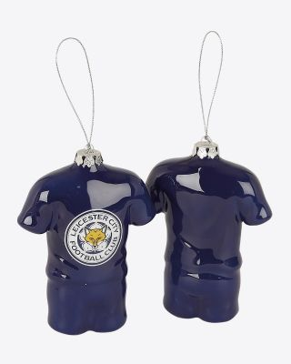 Leicester City Shirt Shaped Christmas Baubles