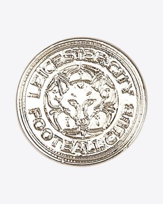 Leicester City Silver Crest Pin Badge