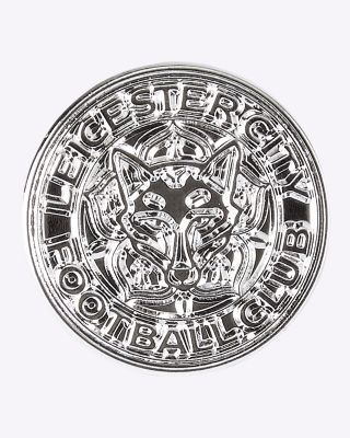 Leicester City Silver Plated Crest Pin Badge