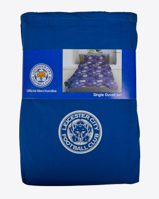 Leicester City Single Graffiti Print Duvet