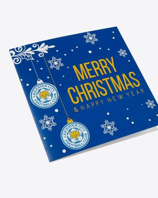 Leicester City Christmas Card