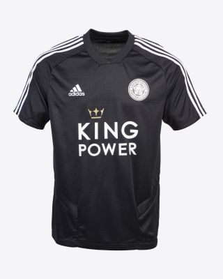 2019/20 adidas Leicester City Junior Blac V-Neck Training Tee