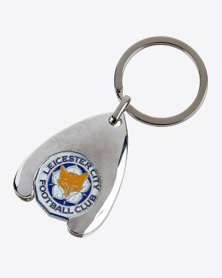 Leicester City Trolley Coin Keyring