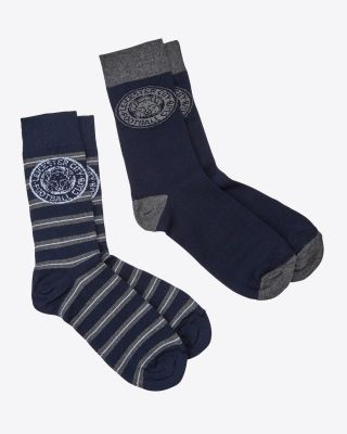Leicester City Twin Pack Socks