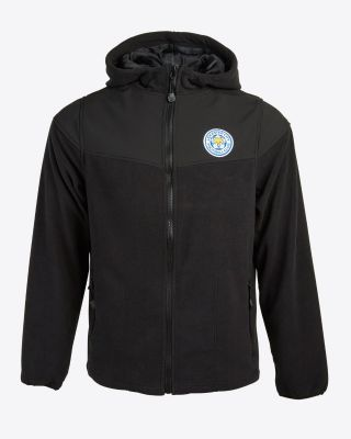 Leicester City Mens Two Tone Black Fleece