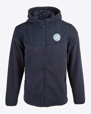 Leicester City Mens Two Tone Navy Fleece