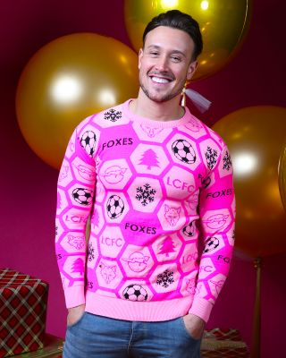 Leicester City Adult Pink Christmas Jumper