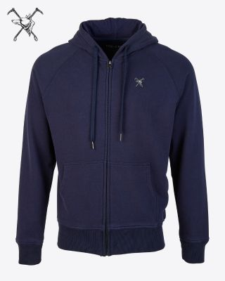Fox & Crop Mens Navy Hoody