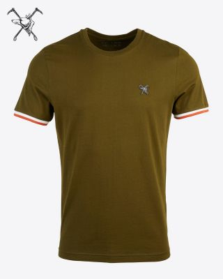 Fox & Crop Mens Olive T-Shirt